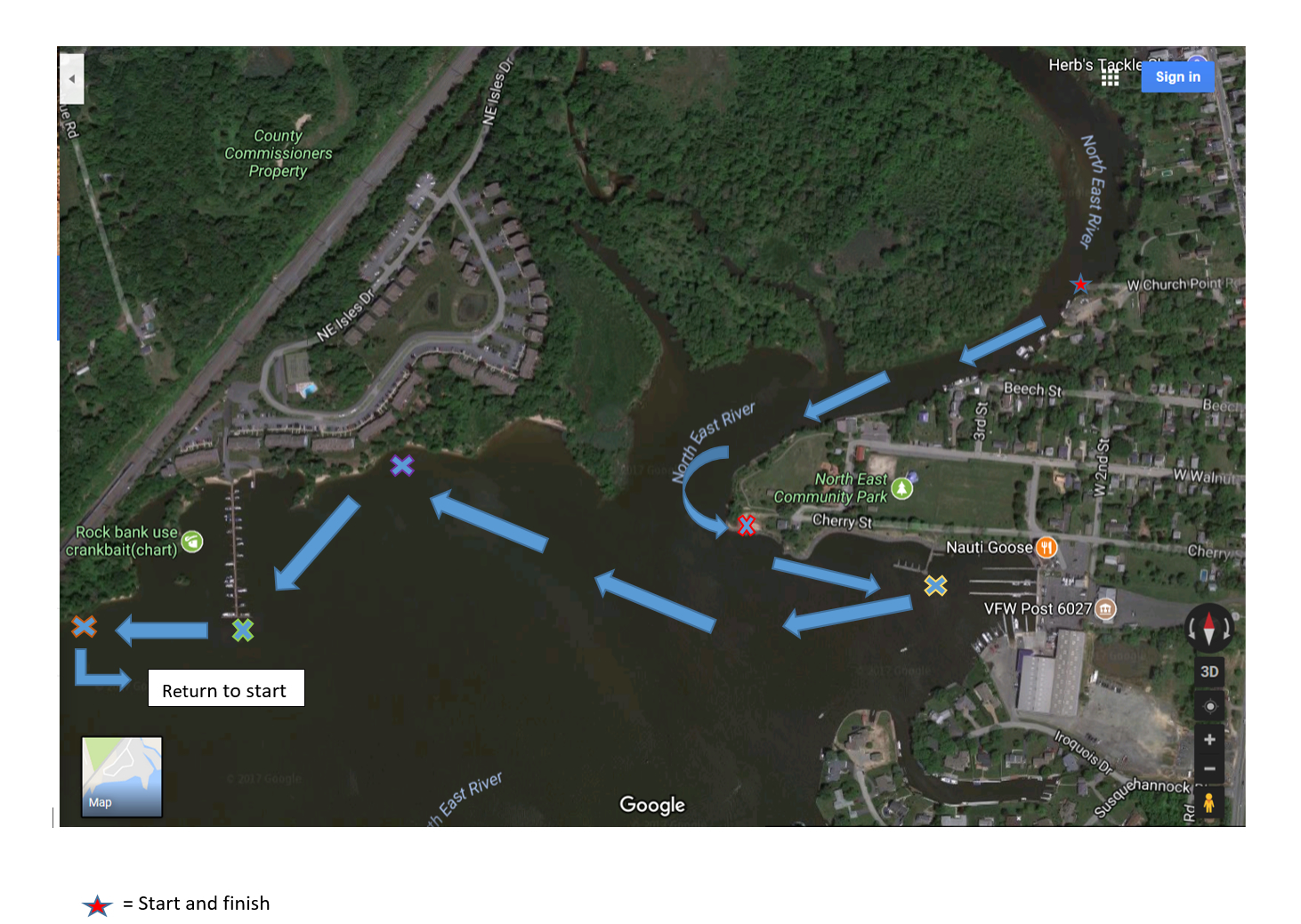 Paddling 4 Parkinson's Course Map